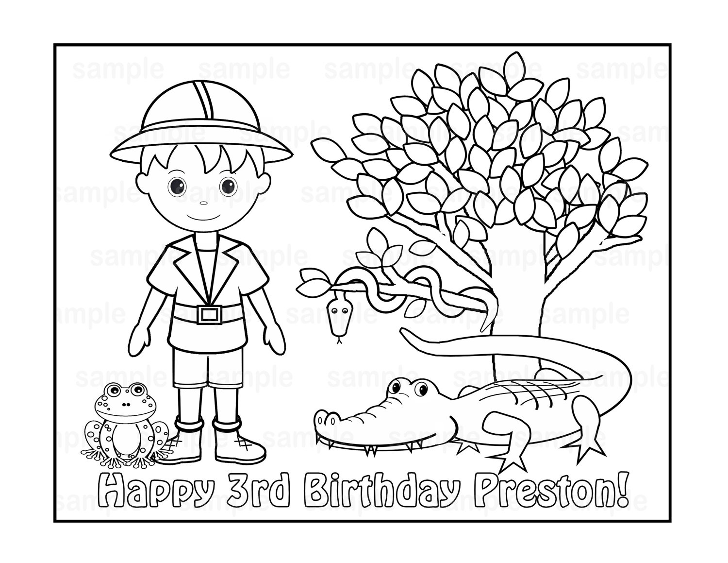 personalized birthday coloring pages | Personalized Birthday Coloring Pages at GetColorings.com ...