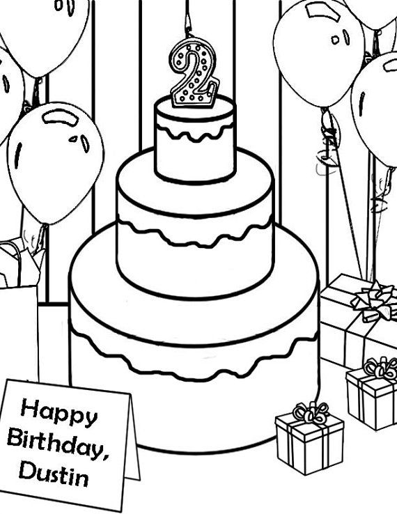 personalized birthday coloring pages | Personalized Happy Birthday Coloring Pages at GetColorings ...