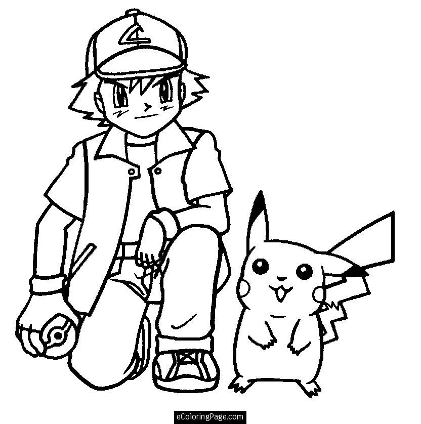 832x838 Pikachu Pokemon Coloring Pages
