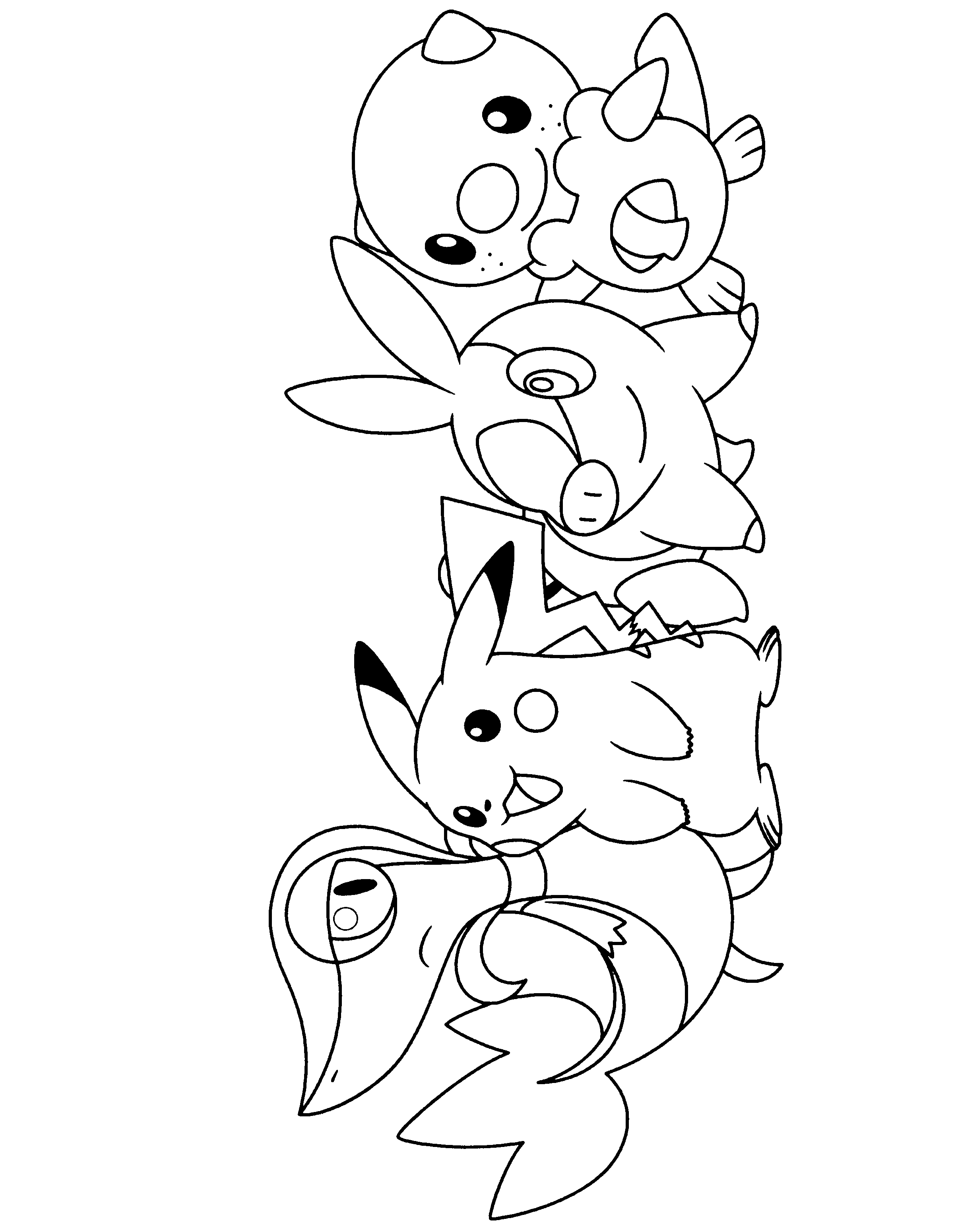 2400x3100 Pokemon Black And White Coloring Pages
