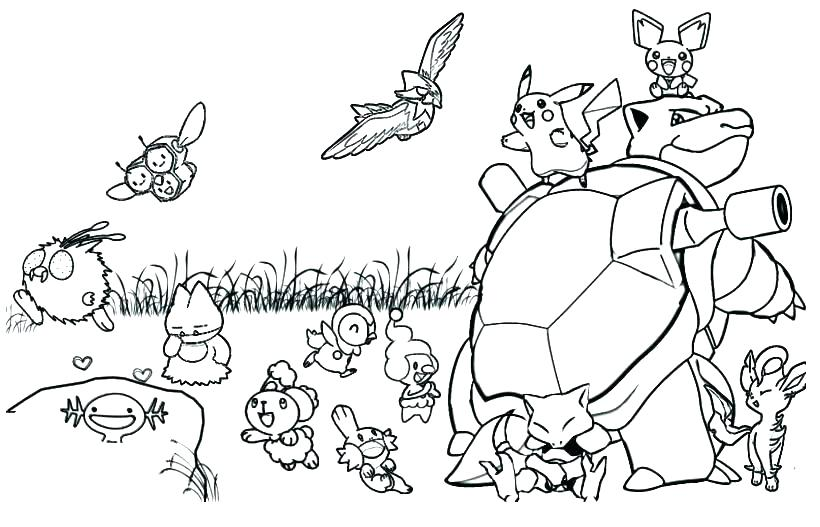 820x527 Pokemon Black And White Coloring Pages