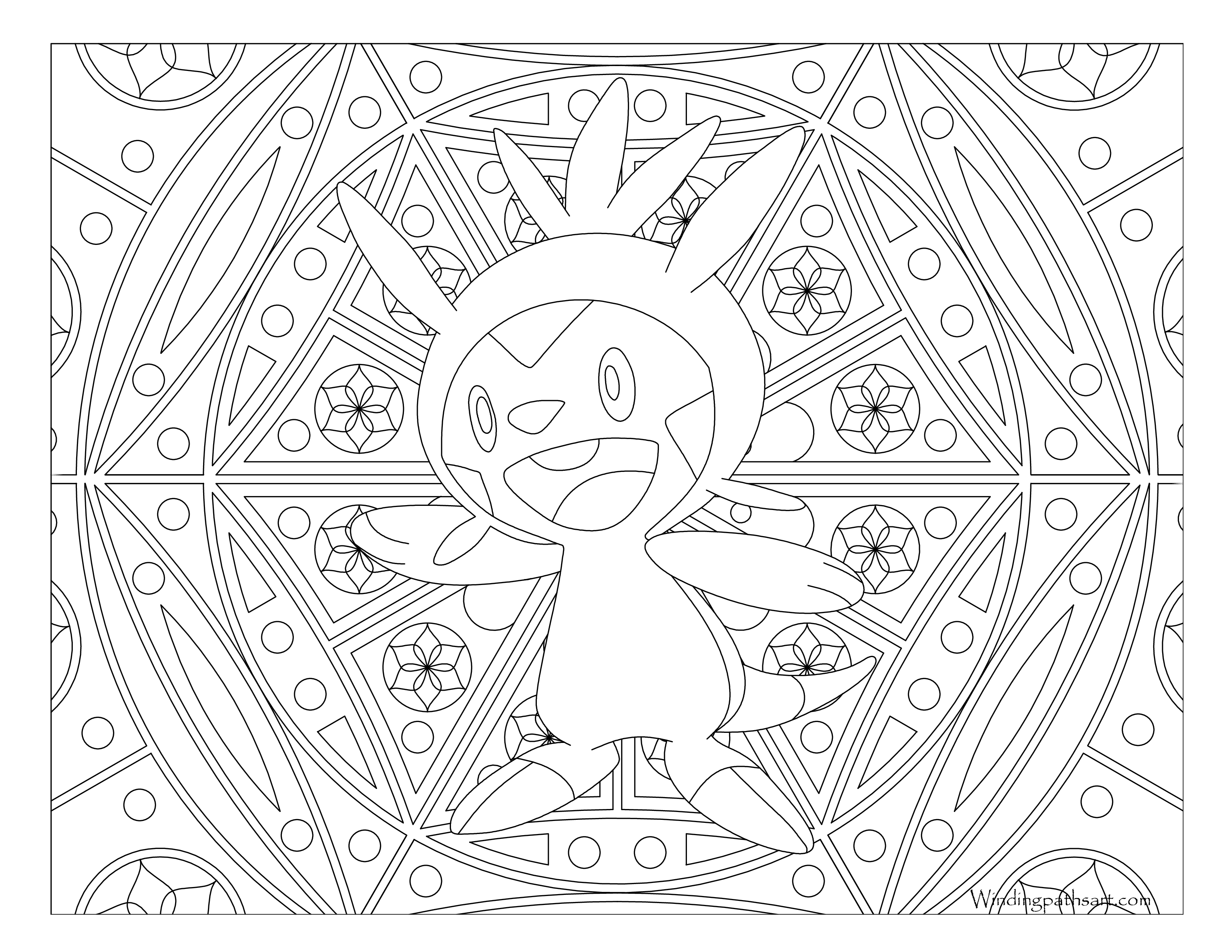 Pokemon Coloring Pages Chespin