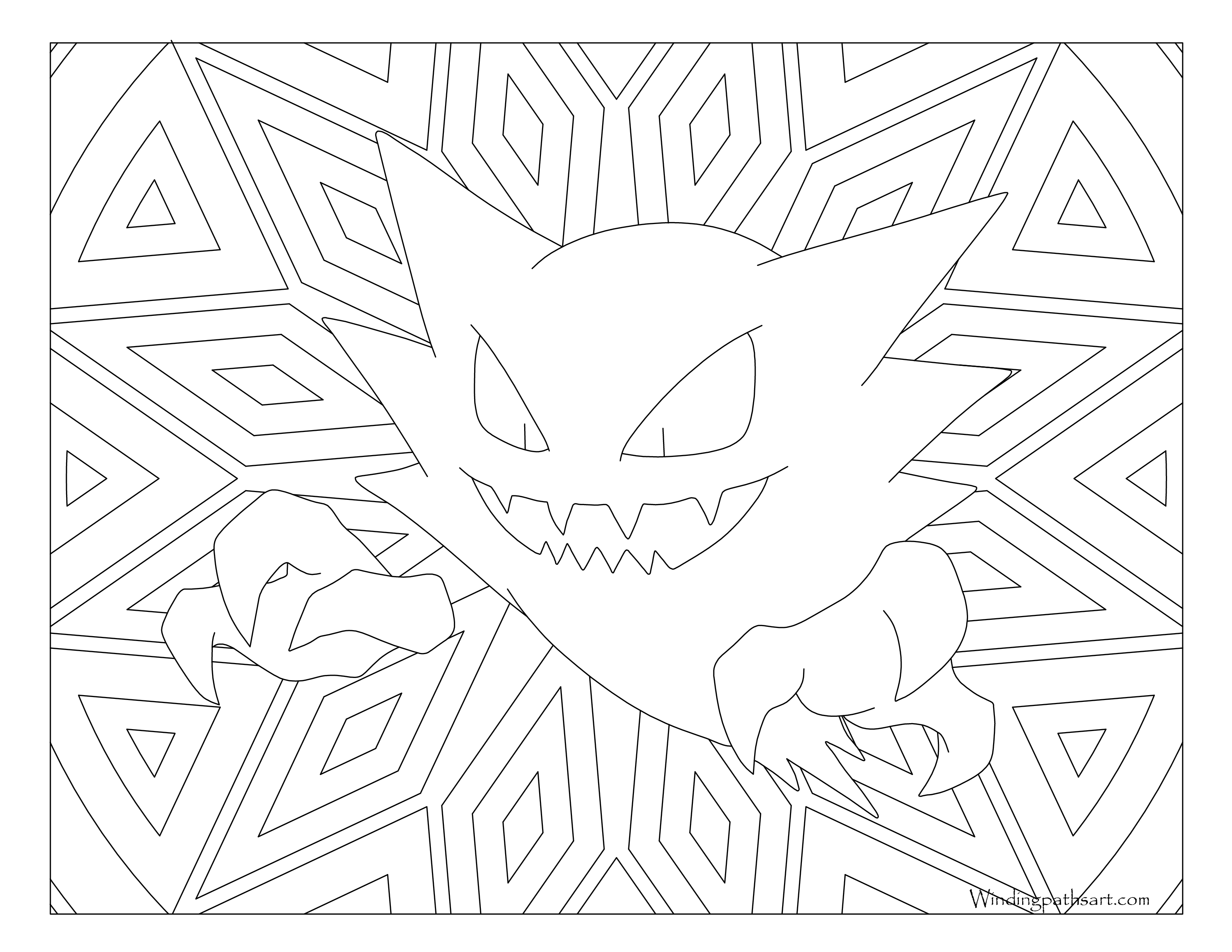 Pokemon Coloring Pages Haunter