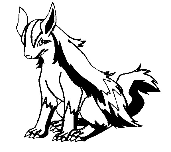 600x532 Pokemon Mightyena Coloring Pages