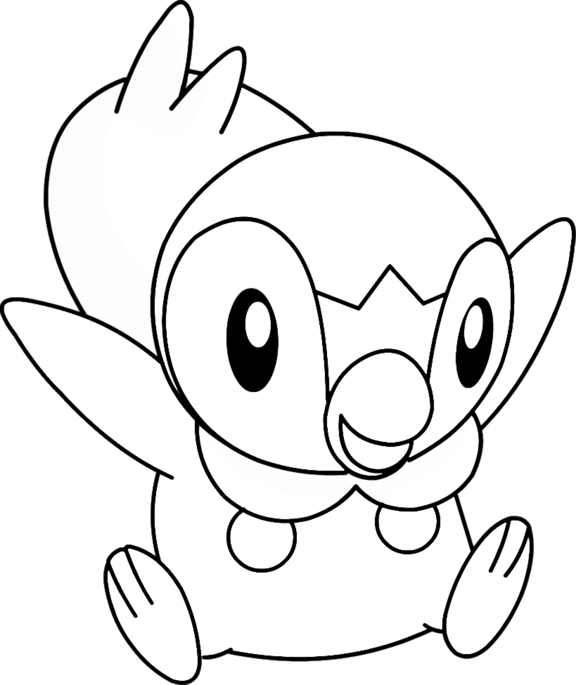 819x975 Pokemon Piplup Coloring Pages 203 New Coloring Sheets
