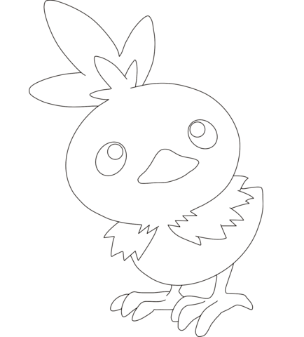 434x480 Torchic Coloring Pages