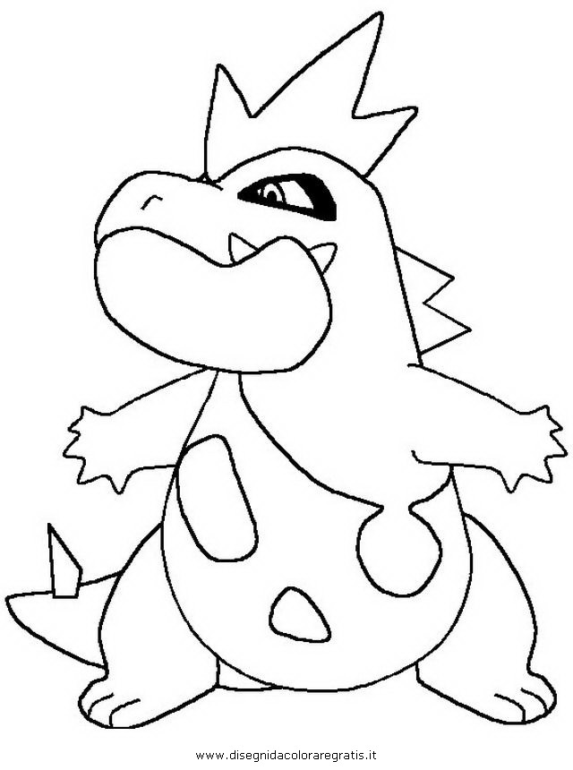 640x860 Totodile Pokemon Coloring Pages