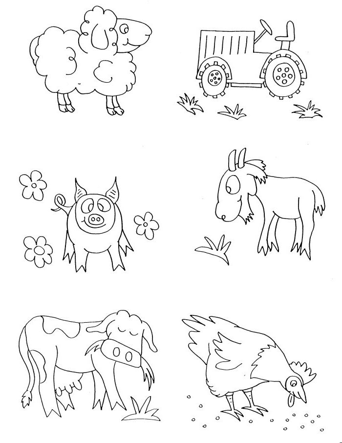 Preschool Farm Animal Coloring Pages