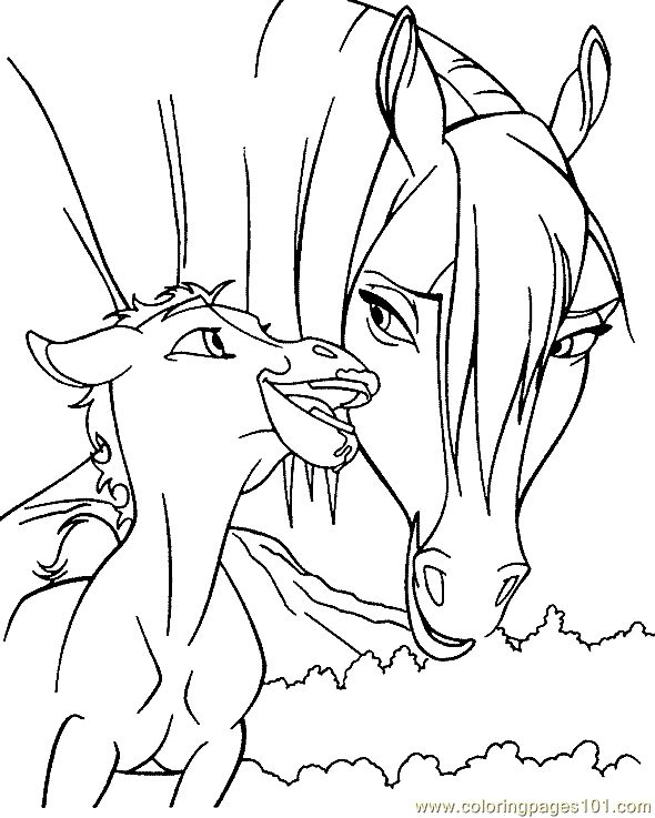 Pretty Horse Coloring Pages