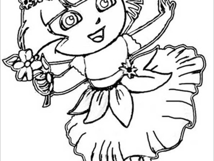 Princess Dora Coloring Pages