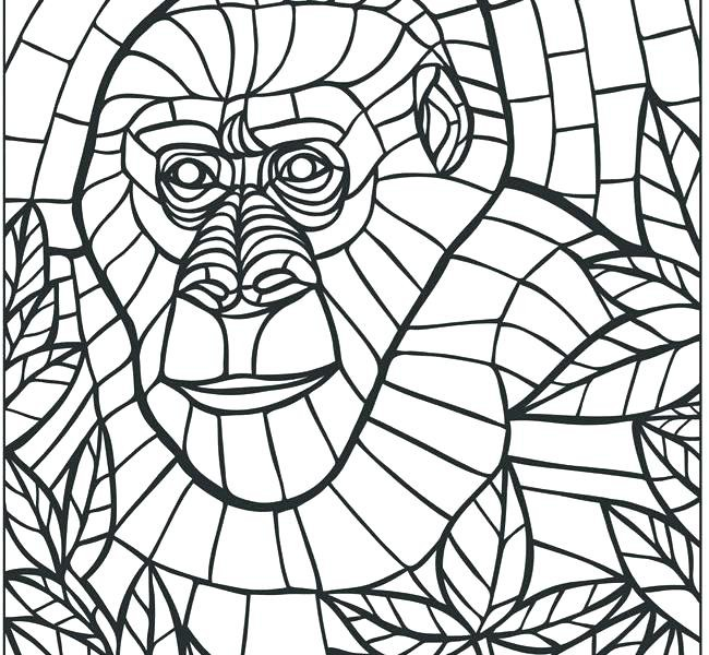 650x600 20 Beautiful Mosaic Coloring Pages To Print
