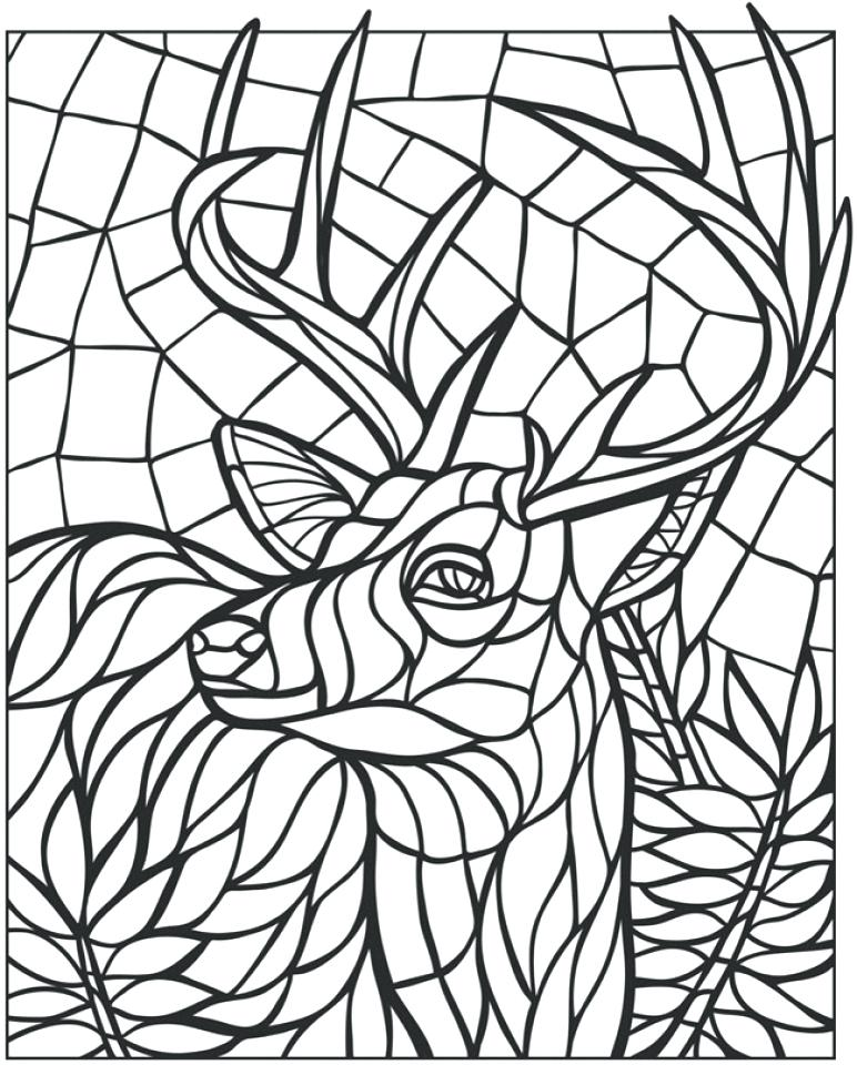 772x960 Free Printable Mosaic Coloring Pages For Adults Magnificent Images