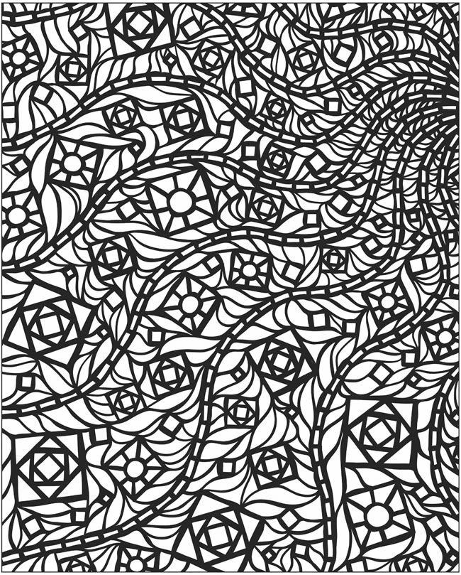 650x809 Mosaic Coloring Pages To Download And Print For Free
