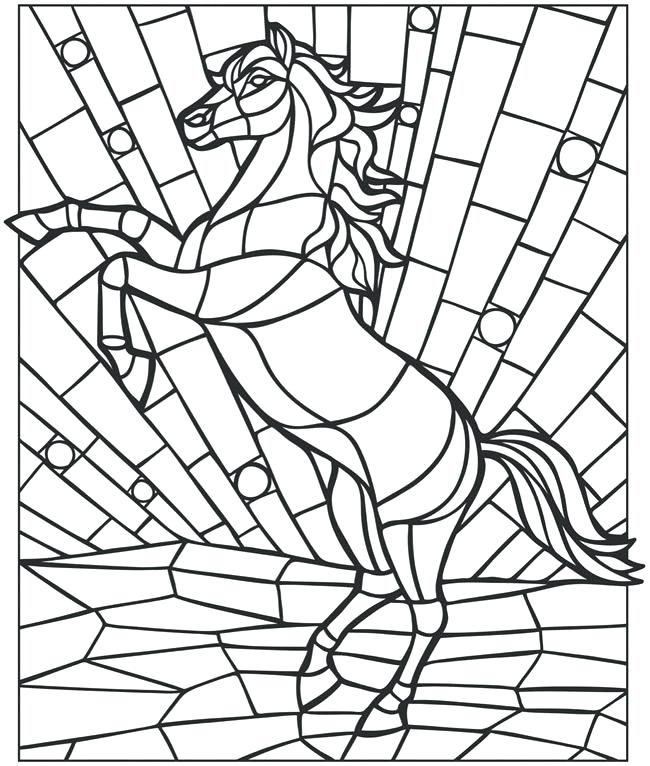 650x766 Mosaics Coloring Pages Animal Mosaic Coloring Pages Smart Idea