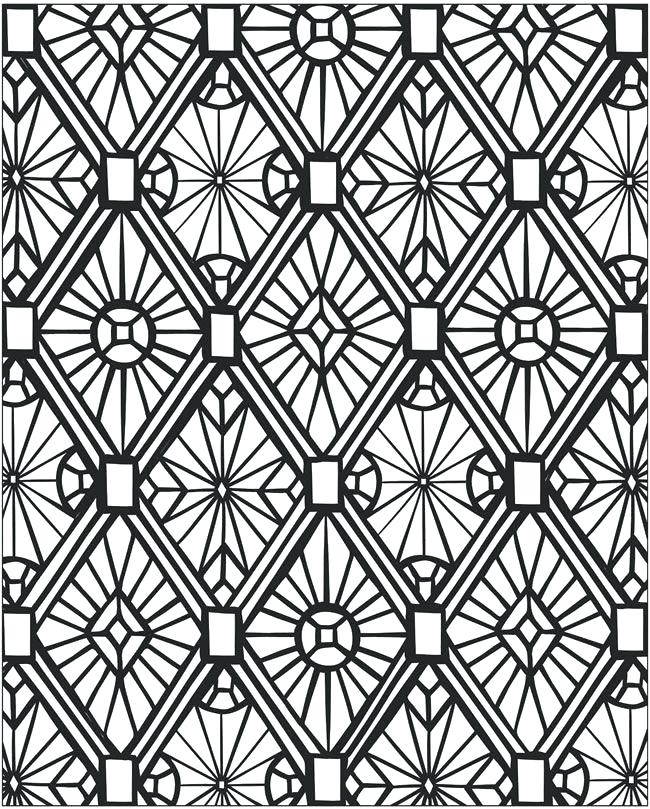 650x809 Printable Mosaic Coloring Pages Mosaic Coloring Page Mosaic