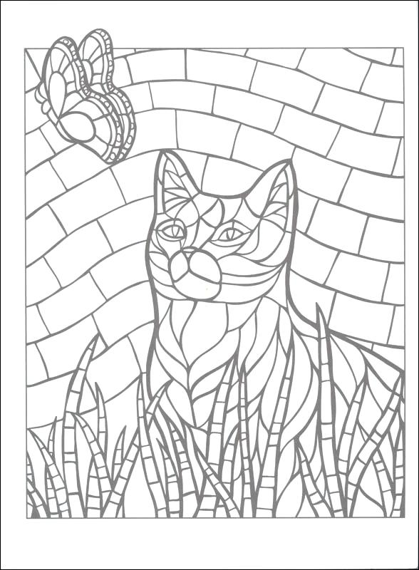 588x800 Animal Mosaic Coloring Pages Mosaic Coloring Books Mosaic