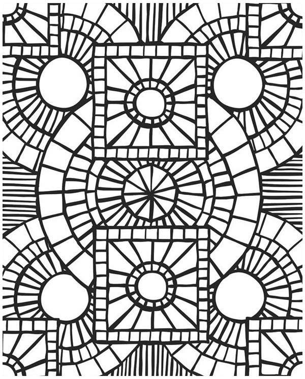 600x747 Coloring Picture Mosaic Coloring Pages 4,mosaic Coloring Pages