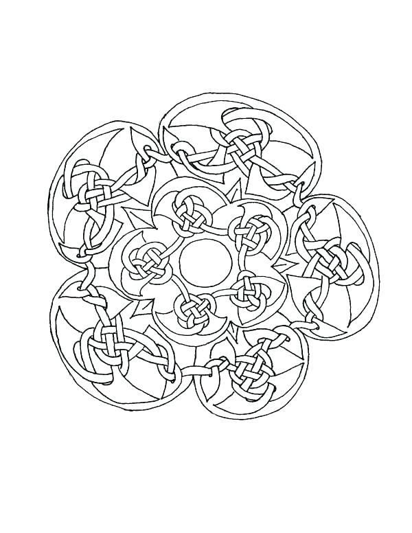 600x776 Free Mosaic Coloring Pages Mandala Coloring Pages For Adults Free