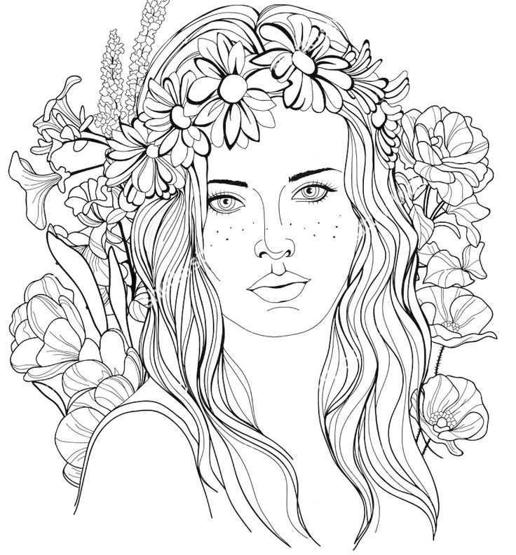 Realistic People Coloring Pages