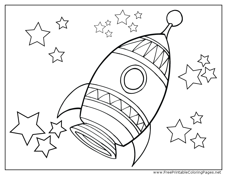 Rocket Ship Coloring Page At GetColorings.com