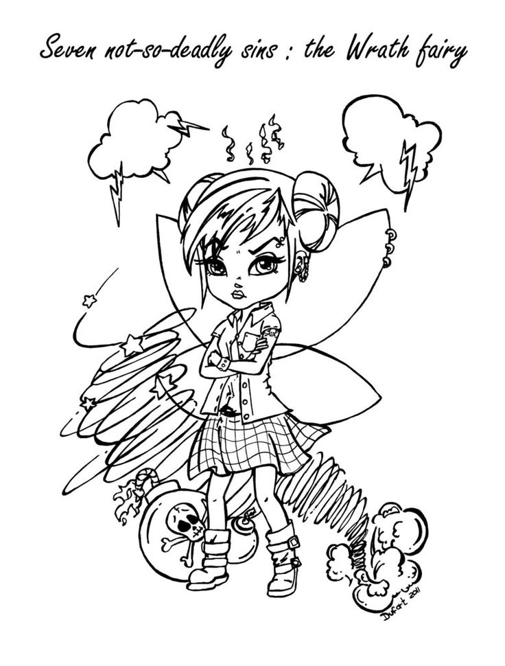 Seven Deadly Sins Coloring Pages