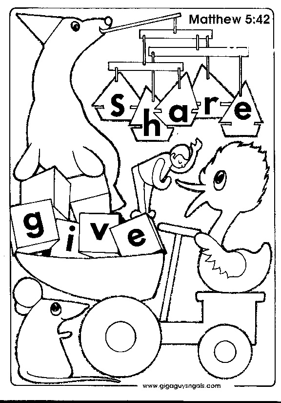 free coloring pages sharing | Sharing Coloring Page at GetColorings.com | Free printable ...
