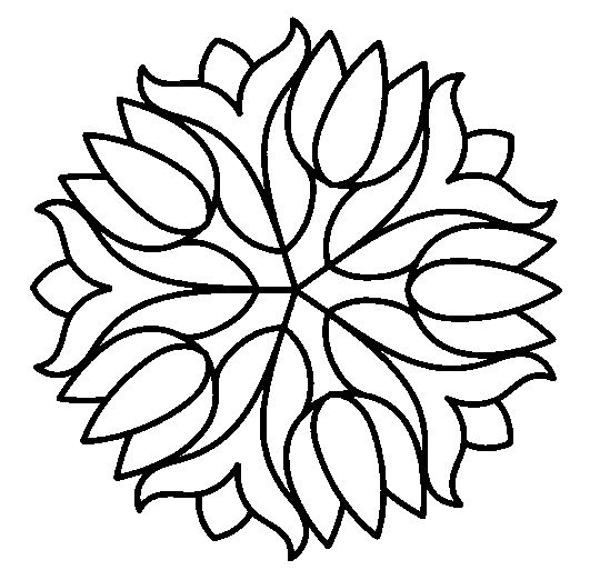 Simple Mosaic Coloring Pages