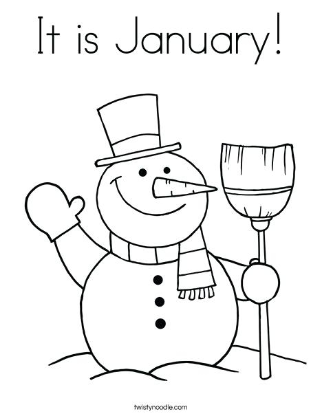 468x605 January Coloring Pages For Preschool January Coloring Pages