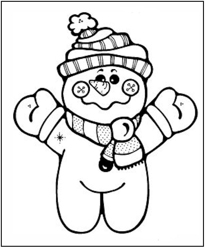 693x841 Little Baby Snowman Print Coloring Pages For Kids Free Printable