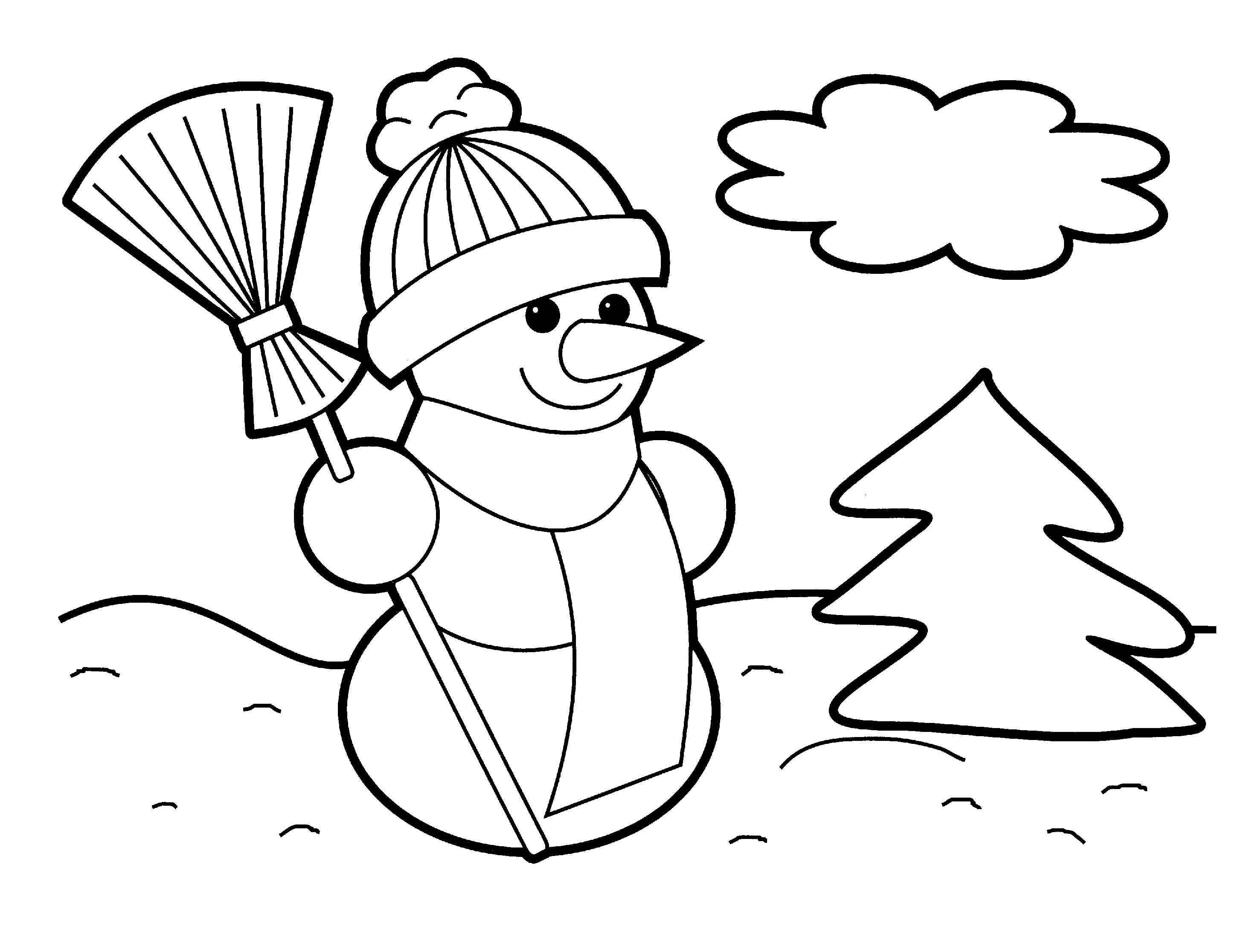 2930x2232 Amazing Pictures Of Snowmen To Color Printable Christmas Coloring