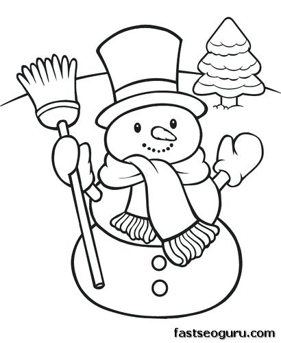 410x500 Snowman Color Pages Coloring Page Snowman Snowman Color Page