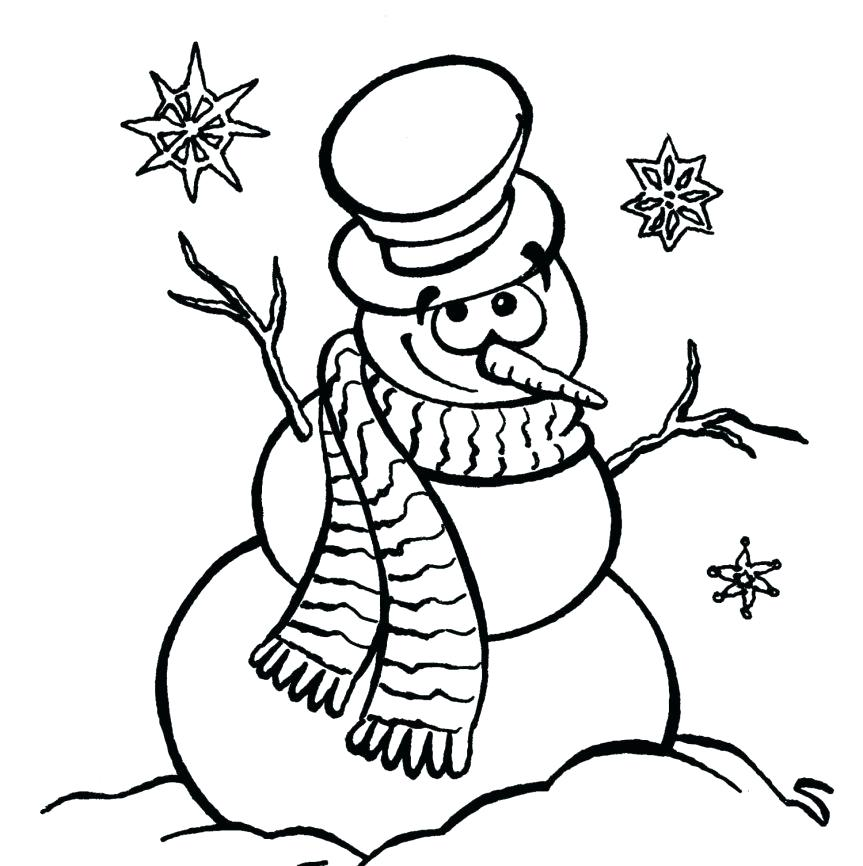 863x866 Snowman Coloring Pages For Preschool Plus Posts Snowman Coloring