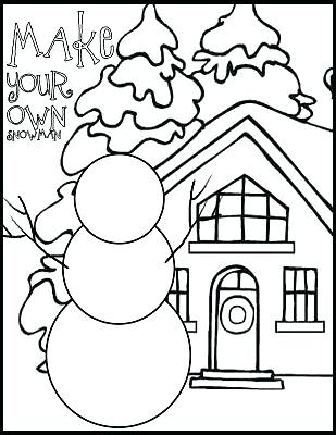 309x400 Snowman Coloring Pages Printable Snowman Coloring Pages 9 Snowman