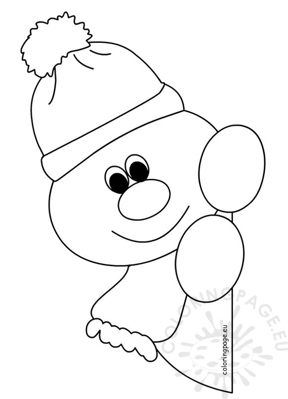 581x803 Window Snowman Coloring Pages For Preschool Coloring Page