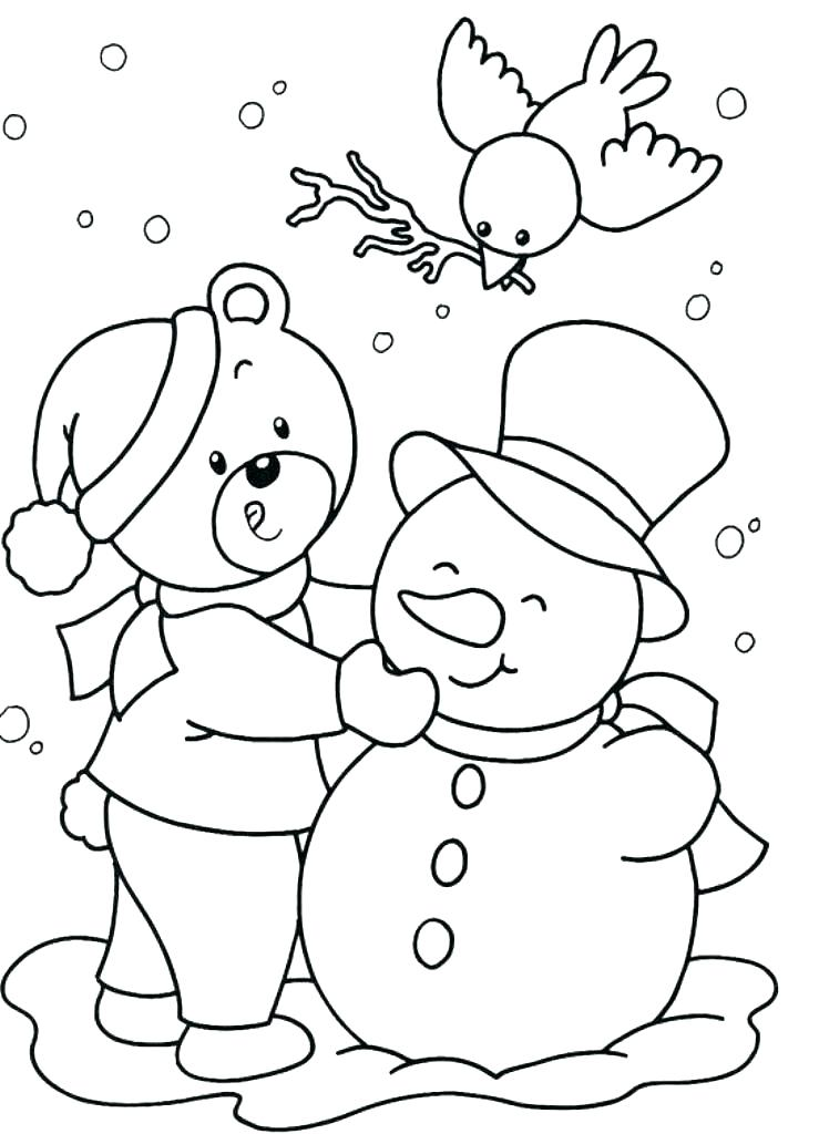 739x1024 Winter Coloring Pages For Preschool Snowman Coloring Pages