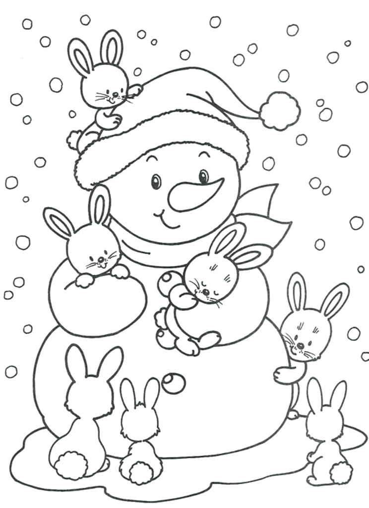 744x1024 Winter Coloring Pages Preschool Printable Winter Snowman Coloring