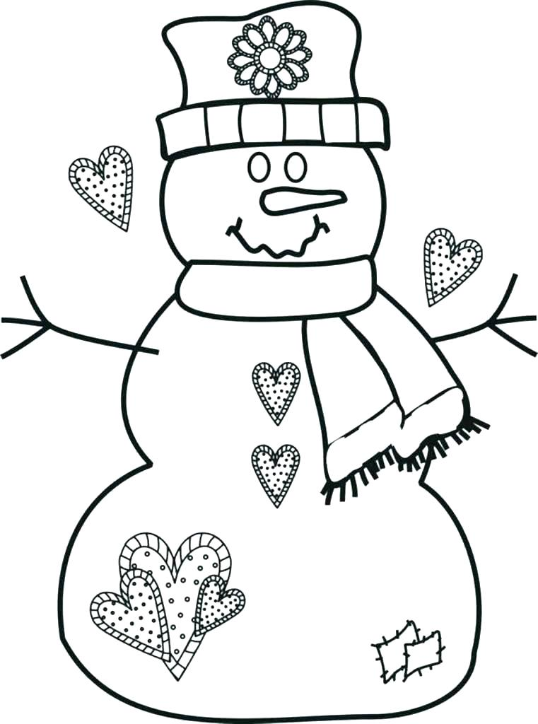 761x1024 Wonderful Free Coloring Pages Snowman Cute Bunnies And Snowman