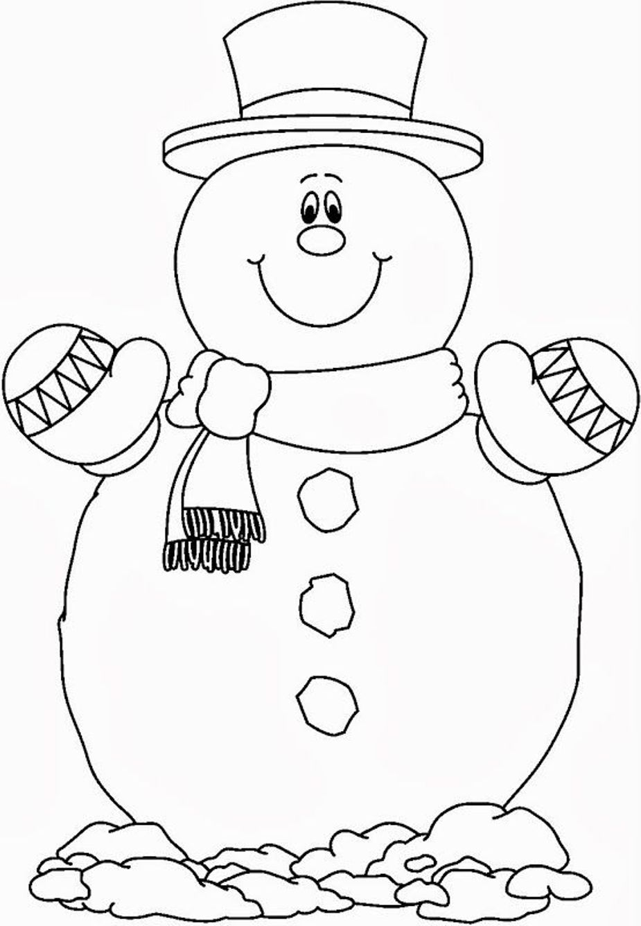 925x1336 Coloring Page Snowman Color Pages Tryonshorts Of Animals For 4