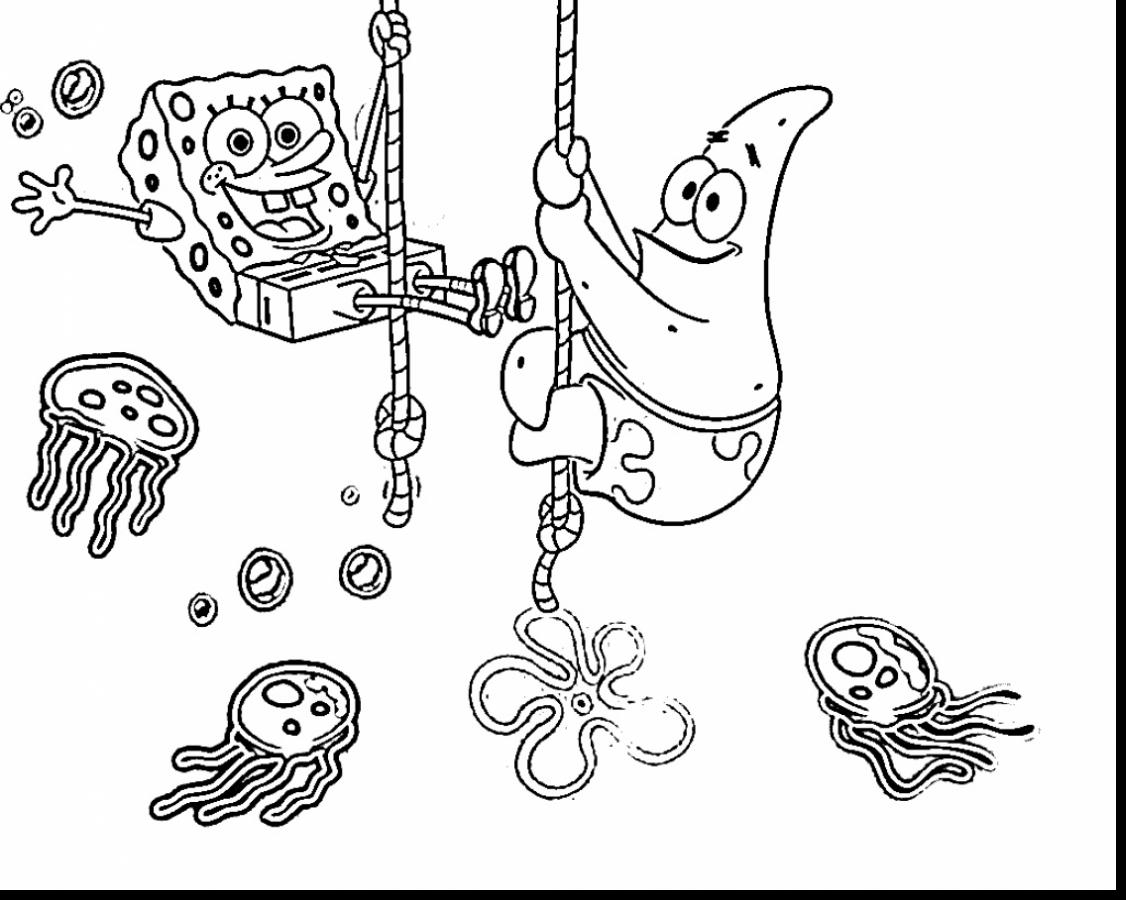 1126x900 Awesome Magnificent Spongebob Coloring Pages Printable With Video