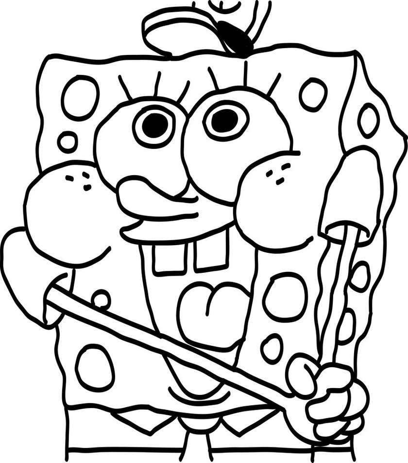 840x952 Fine Decoration Printable Spongebob Coloring Pages Christmas Glum