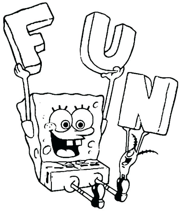 594x696 Free Coloring Pages Spongebob Coloring Pages Free Extraordinary