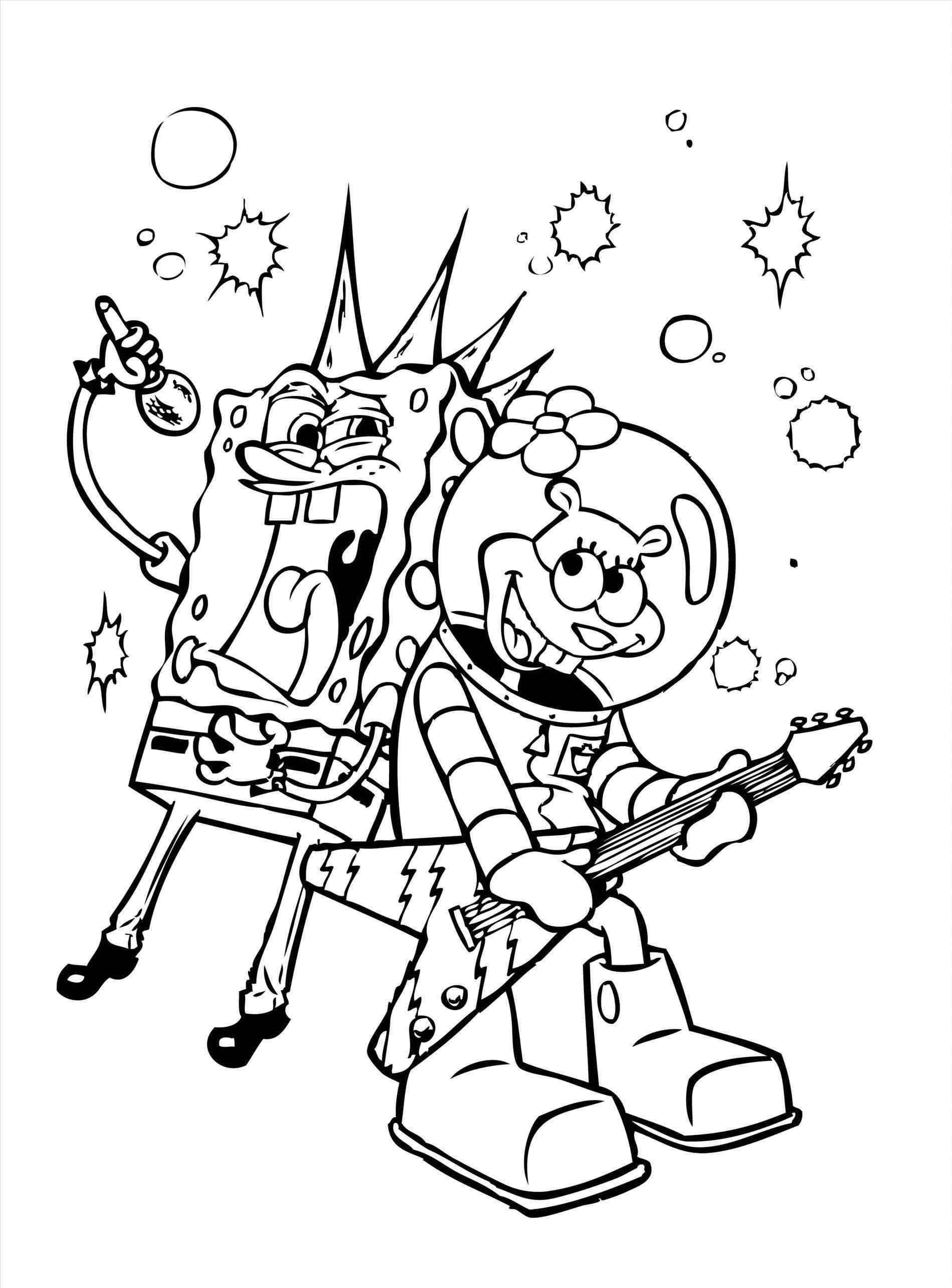 Spongebob Valentines Day Coloring Pages