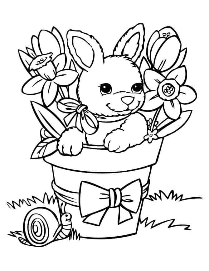 670x867 35 Free Printable Spring Coloring Pages