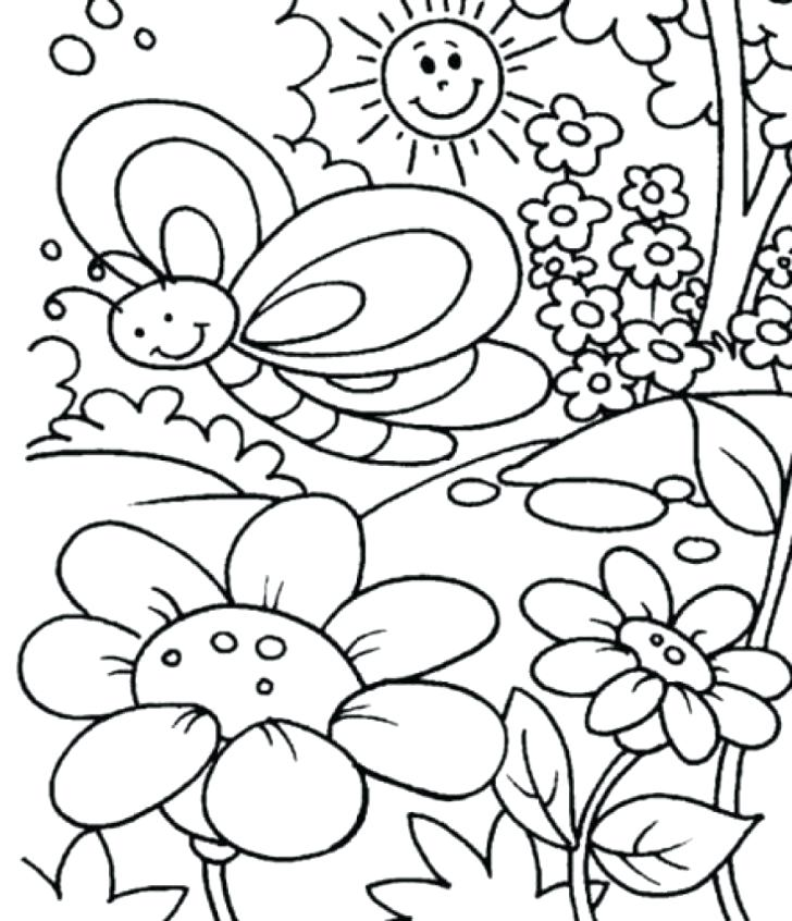 728x846 Preschool Spring Coloring Pages Vintage Preschool Spring Coloring