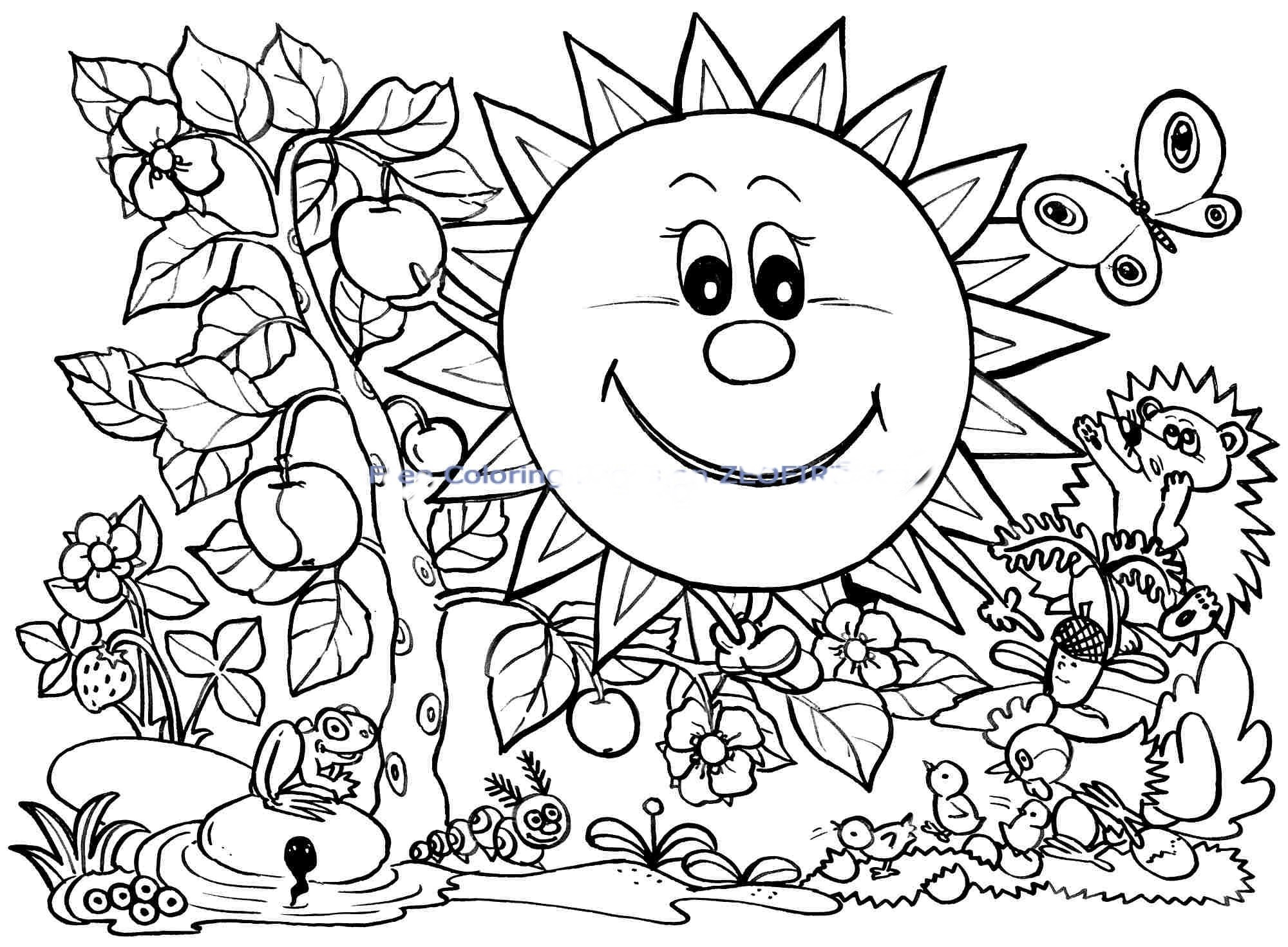 2000x1470 Reliable Free Printable Spring Coloring Pages