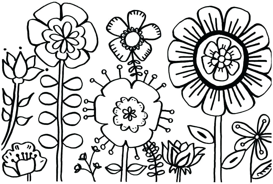 948x638 Spring Coloring Pages For Adults Free Sheets Printable 6987