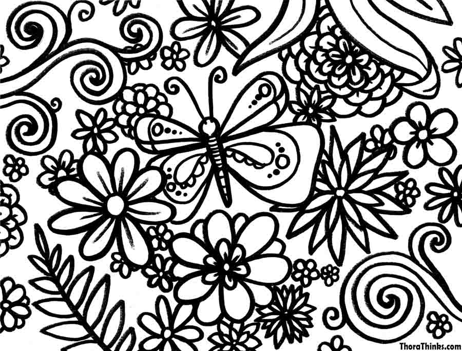 900x684 Spring Coloring Pages Spring Coloring Pages For Adults Kids