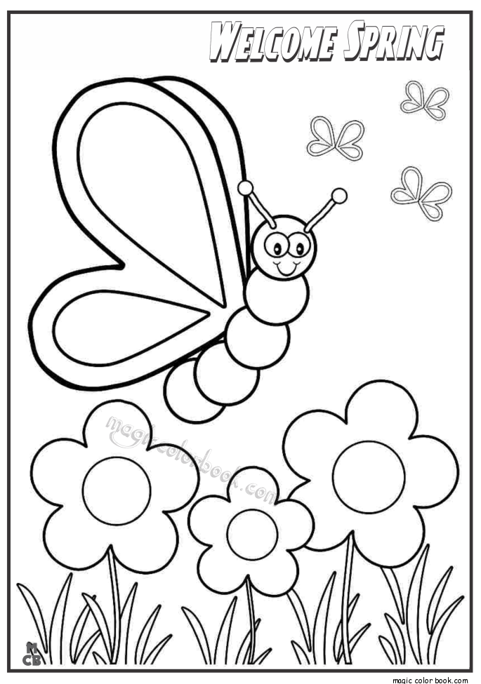 685x975 Welcome Spring Coloring Pages 02