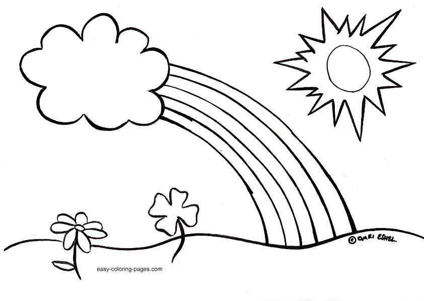 842x598 Easy Spring Coloring Pages For Kids Printable Coloring Sheet