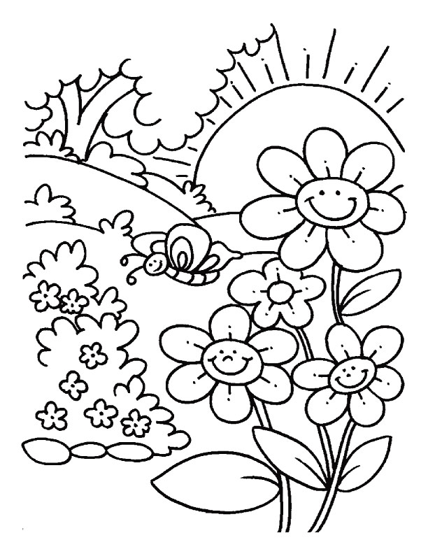 612x792 Spring Coloring Page Beautiful Spring Coloring Page 15 In Kids